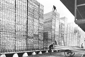 Grundsteinlegung der Holzhandlung Johannes Scheiffele in Ulm
