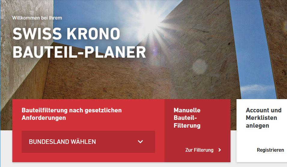 SWISS KRONO Bauteil-Planer Beitrag